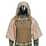 ROCOTACTICAL Tactical Sniper Top Ghillie Base Airsoft Hunting Ghillie Suit Foundation, Brown, One