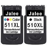 Jalee 2 Cartuchos de Tinta refabricado para Usar en Lugar de Canon PG-510 CL-511 XL Compatible para Canon PIXMA iP2700 MP230 MP235 MP240 MP250 MP260 MP270 MP280 MP495 MP499 MX320 MX330 MX340 MX350
