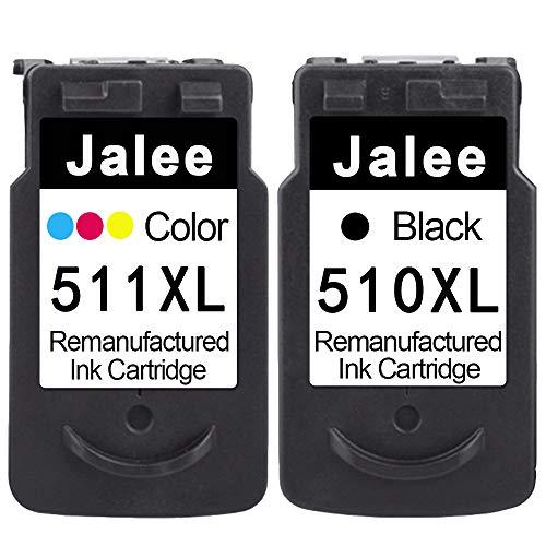 Jalee 2 Cartucce d'inchiostro rigenerata in sostituzione di Canon PG-510 CL-511 XL Compatibile per Canon PIXMA MP230 MP235 MP240 MP250 MP260 MP270 MP280 MP480 MP490 MP495 MP499 MX320 MX330 MX340 MX350