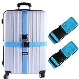 KAEHA S-IT-002-02 2 PCS valigie Accessori da Viaggio Cinghie per Bagagli, Taglia Unica, Bl...