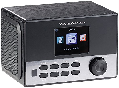 VR-Radio Radiowecker Internet: WLAN-Stereo-Internetradio, DAB+, Wecker, USB, 20 W, 8,1-cm-Display (Radiowecker Internetradio)