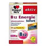 Doppelherz B12 Energie Sofort Schmelztabletten / Nahrungsergänzungsmittel bei erhöhtem Bedarf mit...
