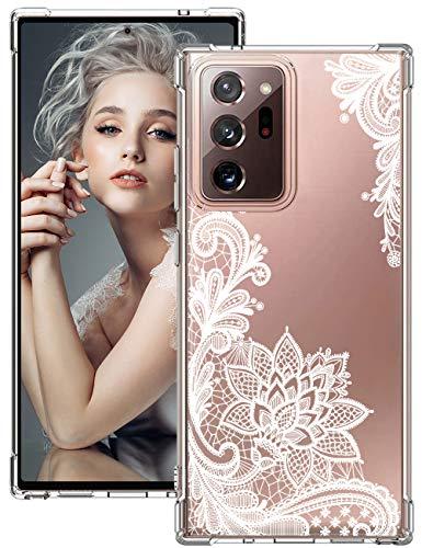 Funda para Galaxy Note 20 Ultra 5G, compatible con Samsung Galaxy Note 20 Ultra 5G, de silicona, transparente, 360 grados, antigolpes, carcasa protectora para Galaxy Note 20 Ultra