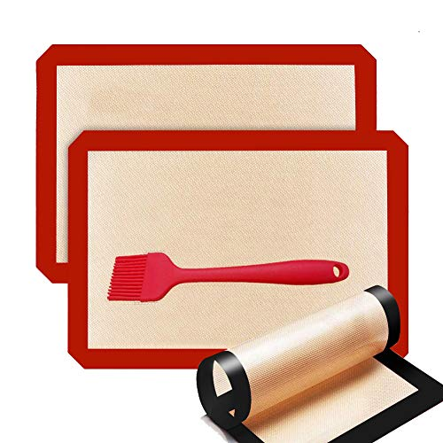 Mitening 3 Piezas Tapete de Silicona para Hornear, Tapete de