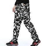 THWJSH Overol casual suelto, pantalones de trabajo para hombre, diseño de camuflaje, varios bolsillos, pantalones de trabajo, para nieve, playa, deportes 2-XXXL