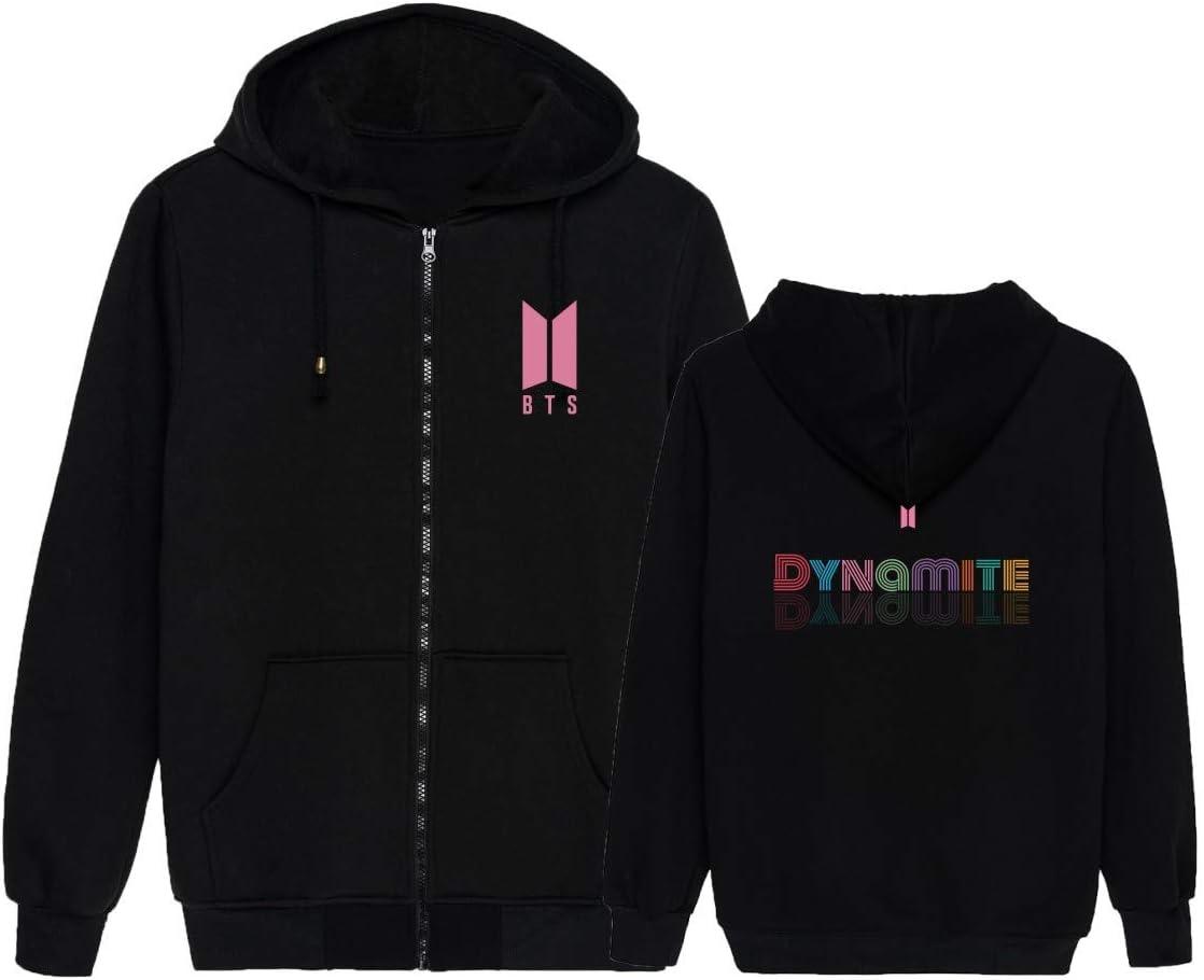 KPOP BTS Hoodie Jimin Jungkook V New Album Dynamite Merchandise Zipper Sweatshirt Sweater