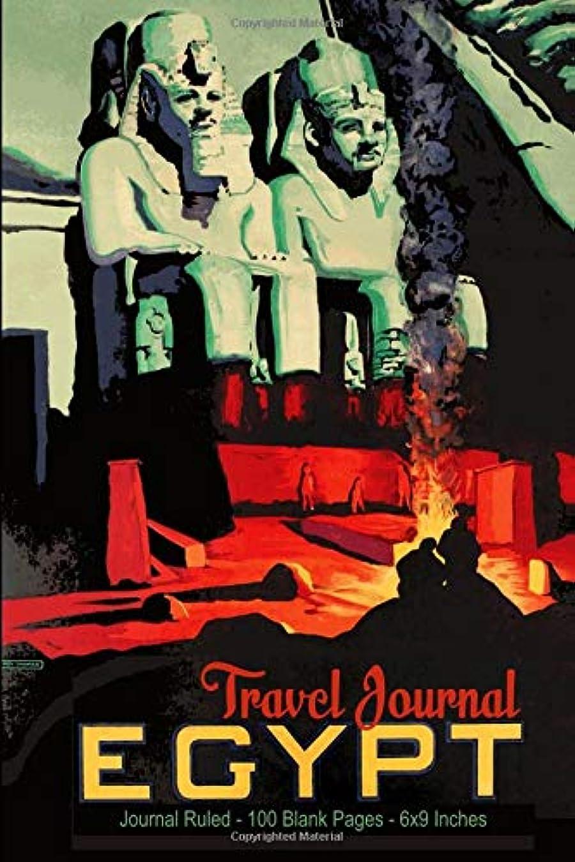 胚戸惑うコンテンポラリーTravel Journal - Egypt: Journal Ruled - 100 Blank Pages - 6x9 Inches