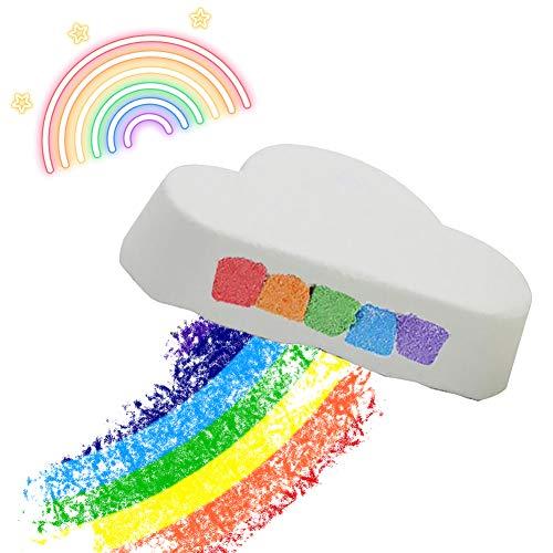 Beito 1PC Rainbow Cloud Bath Bombs Relaxation Spa Bath Bomb Luxury Bubble Fizzies Bain de Bain Naturel Peau Sèche Hydratant Doux Cadeaux Idée Pour Ell