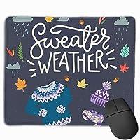"""セーター天気 ゲーミングマウスマットパッドマウスマットコンピューター、PC、キーボード、デスク用滑り止めラバーベース9.8""""x 11.8"""""""