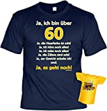 Goodman Design T-Shirt zum 60.Geburtstag + Minishirt Geschenk 60 Set : Ja ich Bin über 60, ja die...