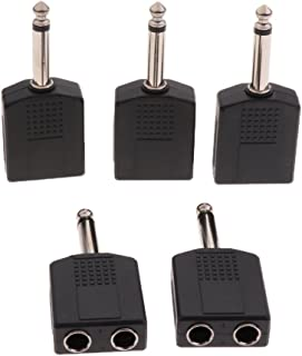 KESOTO 5pcs 6. 5mm / 6. 35mm Masculino para 2 Feminino Áudio