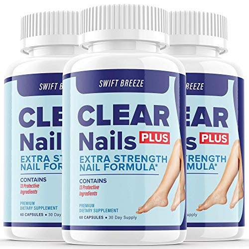 (3 Pack) Clear Nails Plus Extra Strength Nail Formula Probiotic Pills Fungus Treatment Roy Williams (180 Capsules)