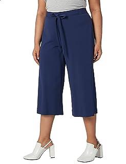 Splash High-Waist Culotte Pants for Women 5XL