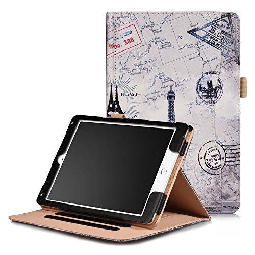 Xuanbeier Schutzhülle Multi - funktions Ständer Schutz Hülle für iPad 9.7 2018/2017/ iPad Air/iPad Air2 mehrere Blickwinkel(Tower Map)