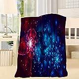 168 Rojo y Azul Exquisito Diseño Manta Suave Tamaño Opcional Mantas