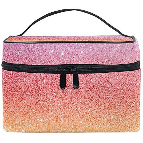Abstrait Rainbow Glitter Texture Femmes Voyage Sac Cosmétique Portable Maquillage Train Case Trousse De Toilette Beauté Organisateur