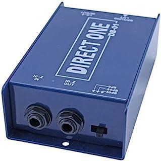 "Passive Di direct box 1/4"" instrument to balanced & unbalanced XLR"