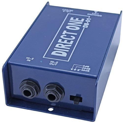 Passive Di direct box 1/4' instrument to balanced & unbalanced XLR