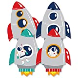Blast Off to Outer Space - Astronaut Decorations DIY Rocket Ship Baby Shower or Birthday Party Essentials - Set of 20