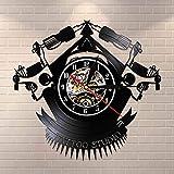 Vintage Custom Tattoo Vinyl Record Wall Clock Custom Order Your design Your logo Your Image Custom Tattoo Shop Vinilo Clock