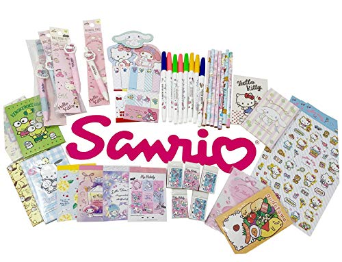 SANRIO Characters Wonderful 12-pc Stationery and Accessory Assorted Set Bundle