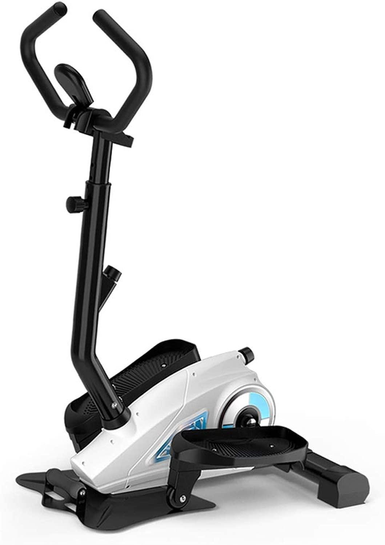 家庭用ステッパー ミニジョガー 屋内フィットネス機器 スポーツ自転車 磁気制御ステッパー、調節可能なアームレストの高さ (Color : 白, Size : 75*49*148cm)