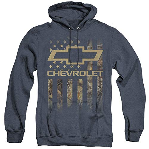Chevrolet Unisex Adult Pull-Over Heather Hoodie, X-Large Navy