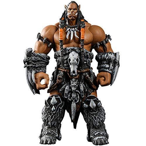 YiXing World of Warcraft WOW Orc Leader Durotan 11 cm, kit giratorio para garajes con brazo de tribus confederadas, modelo de plástico para decoración de juguetes (color : Durotan(11 cm)