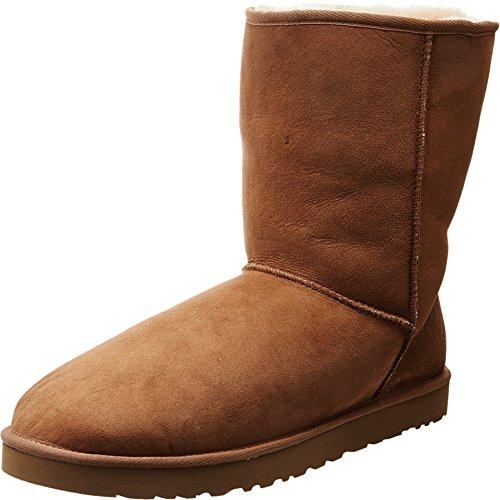 UGG Men's Classic Short Sheepskin Boots, Chestnut, 10 D(M) US