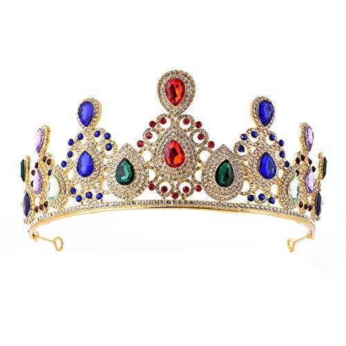 Wisilan Tiara für Brautschmuck, Krone, Hohl, Prinzessinnen-Krone, Hochzeit, Abschlussball, für Partys, Hochzeiten, Stirnband