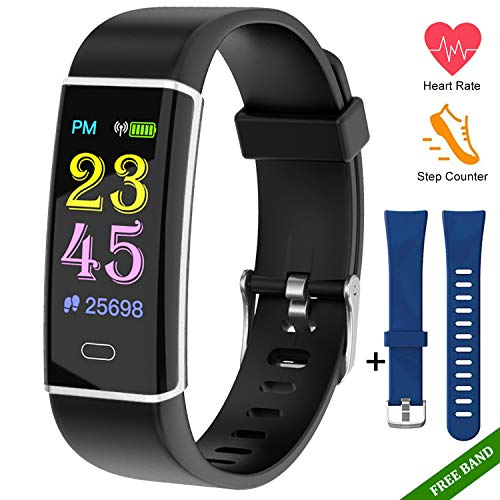 Fitness Tracker Watch-Activity Trackers Health Exercise Watch With Heart Rate Monitor Fitness Watches for Men With Sleep Monitor Step Counter Smart Fitness Band Pedometer Walking for Women kids