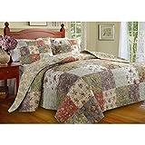 Diseño de flores de edredón y ropa de cama juego de a la venta, 100% algodón, tamaño king