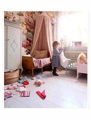 * avec étoiles * enfants Fille Ciel de lit en coton Rose Tente Maison pour chambre à coucher Chambre d'enfant Décoration