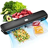 [2020 LATEST] Vacuum Sealer Machine, LaraLov Food Sealer with 15 Vacuum Sealer Bags for Food Saver, Dry |Moist |Point lOuter |Seal Five Food Preservation Modes, Fresh up to 9x Longer, Waterproof|Led Indicator Light|Easy to Clean|Compact Portable Design, Black