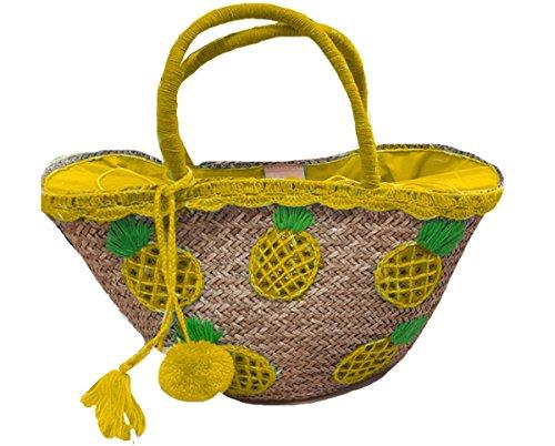 Bali-Bali Torba koszykowa Pineapple small Yellow
