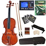 Cecilio CVN-200 Solid Wood Violin with Tuner and Lesson Book, Size 4/4
