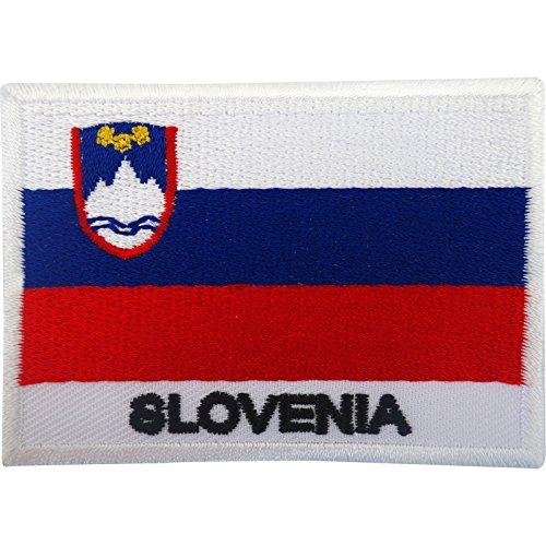 Aufnäher mit Slowenien-Flagge, zum Aufnähen oder Aufbügeln, besticktes Motiv