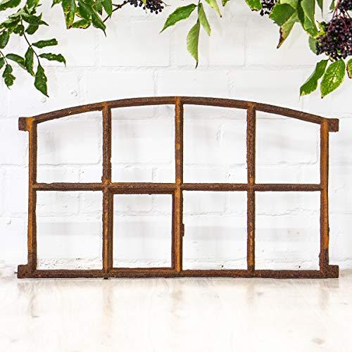 Antikas   Eisenfenster mit Öffnung   Höhe ca. 44,5 cm, Breite ca. 74,5 cm   als Stall-Fenster oder Garagenfenster