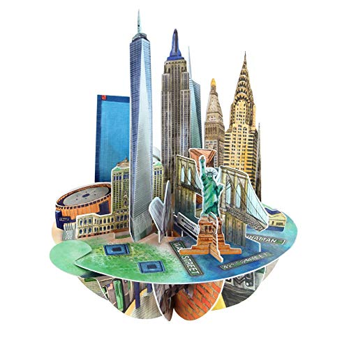 New York Pirouette Card - Santoro 3D Pop-Up Greeting and Birthday Card For Him and Her