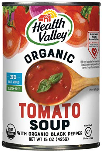 Health Valley Organic No Salt Added Soup, Tomato, 15 Ounce (Pack of 12)