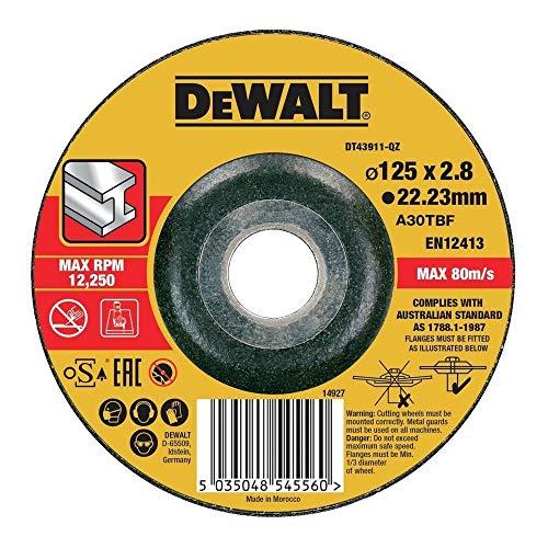 Dewalt DT43911-QZ Disque à tronçonner le métal 125x22.2mm, épaisseur 2.8mm, moyeu déporté