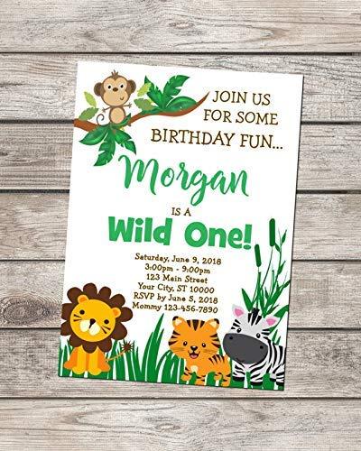 Wild One 1st Birthday Invitation