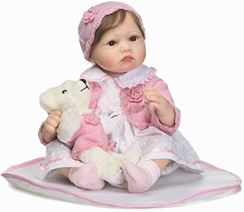 CHENG Mini Reborn Babypuppe 22 Zoll mit Augen  nen Kinder