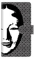 楽天モバイル 楽天ハンド スマホケース 手帳型 カバー 【ステッチタイプ】 YI872 能面03 横開き 品