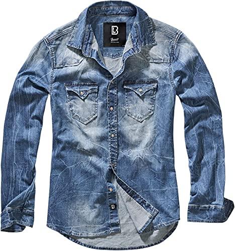 Brandit Denimshirt Riley - Blue - XL