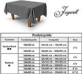 Tischdecke Abwaschbar Outdoor Gartentisch Terrasse Tischdecken Leinen Optik Wachstischdecke Wachstuch Größen Auswählbar Wasserabweisend Lotuseffekt Abwischbare Modern Dekoration 140x240 cm Dunkelgrau - 5