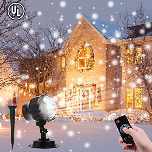 Projektor lampe B-right LED Schneeflocke Projektor Licht Weihnachtsbeleuchtung, Schneefall Projektor Lichter, Spotlight für Außen und Innen Weihnachten Halloween Party Hochzeit Geburstag