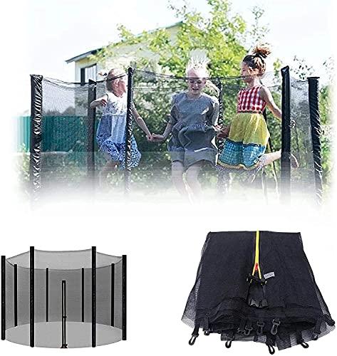 WXking Ø305cm / 366cm / 396cm / 427cm / 430cm Net de Seguridad de trampolín para 6 8 Polos Reemplazo de reemplazo Neto reemplazo Neto Neta de Seguridad, Altura de Red 163/180 cm
