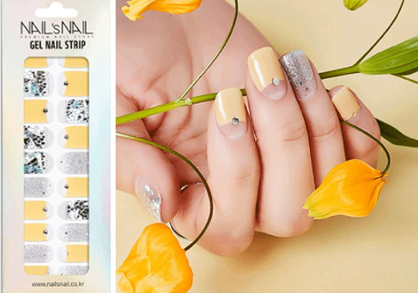 意味するクリープエーカー\貼るジェルネイル/Nail's Nail(ネイルスネイル) ジェルネイルストリップ 113