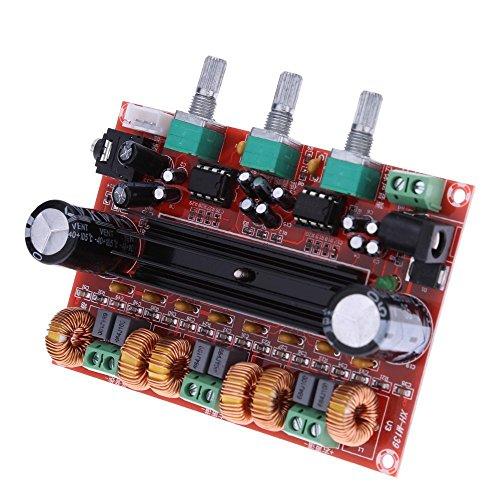 DollaTek TPA3116D2 2x50W + 100W 2.1 Kanal-Digital-Subwoofer-Leistungsverstärker-Brett DC12V-24V